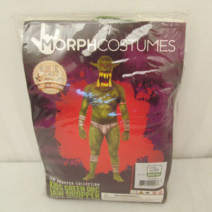 29817fe30 Halloween Costume Green Orc Morphsuit Kids L NWT
